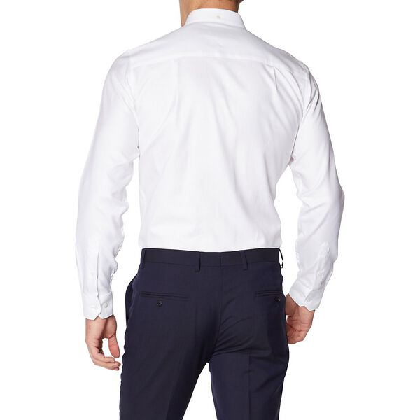 Formal Diagonal Dobby Kings Shirt, BRIGHT WHITE, hi-res