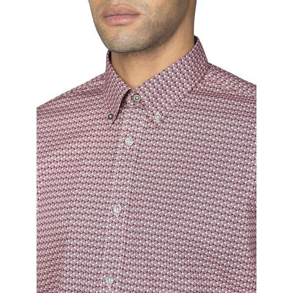 Ls Stipple Micro Geo Shirt, LIGHT PINK, hi-res