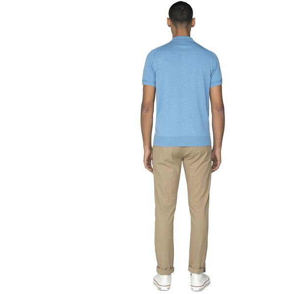 S/S Knit Polo Knit, JAZZY BLUE, hi-res