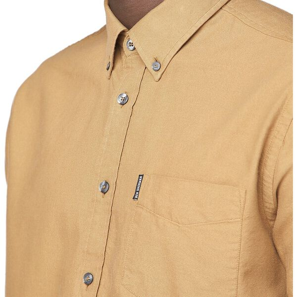 Ss Oxford Shirt Camel, CAMEL, hi-res