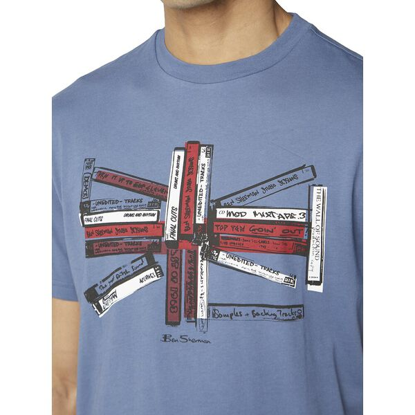 Union Music Tapes Tee, LT INDIGO, hi-res