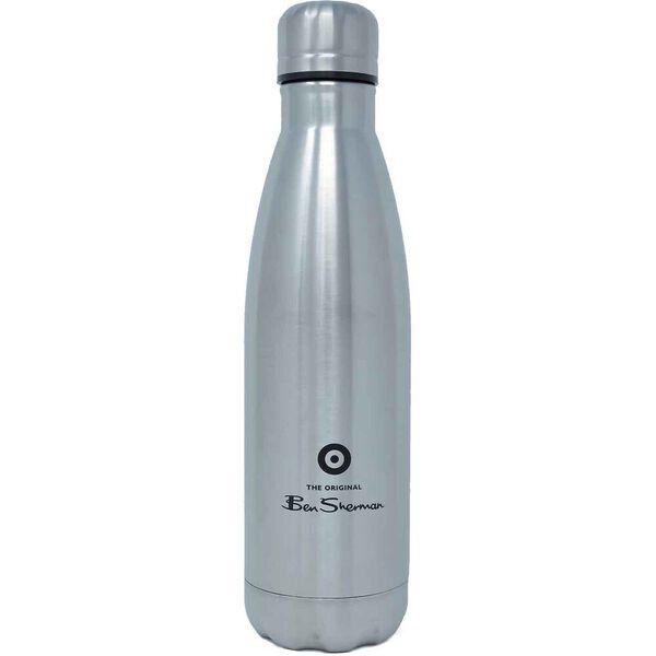 Metal Drink Bottle Silver/Black