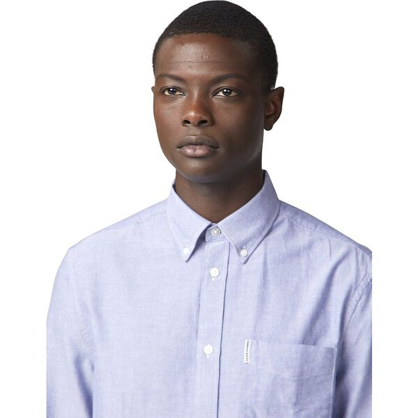 Ls Oxford Shirt Navy, NAVY, hi-res