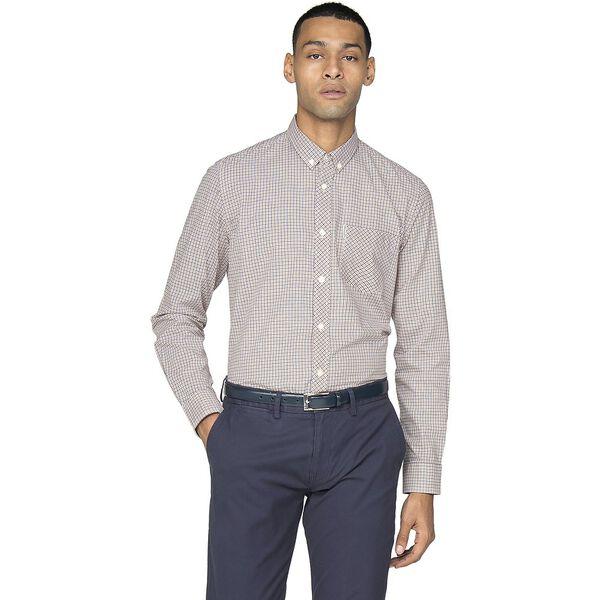 Ls Mini House Gingham Shirt, ORANGE, hi-res