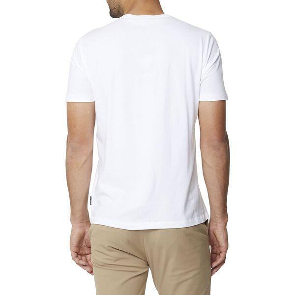 CHEST LOGO CREW TEE WHITE, WHITE, hi-res