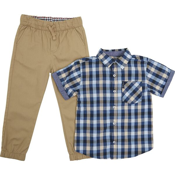 Kids Short Sleeve Shirt And Trouser Pack