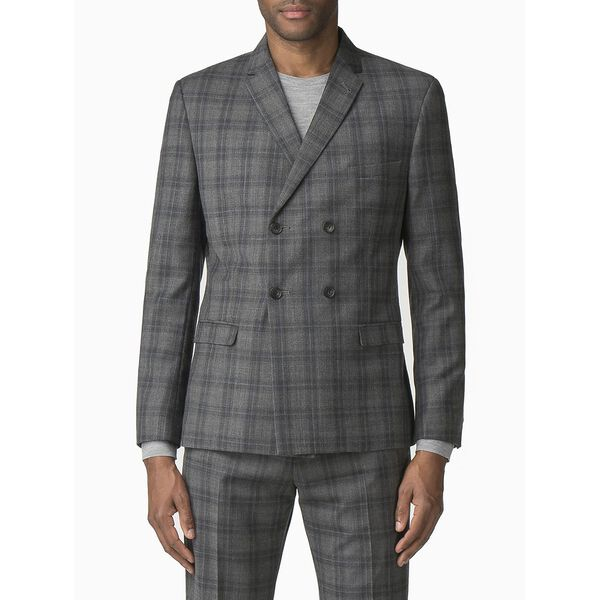COOL GREY/BLUE CHECK JACKET