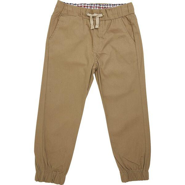 Woven Pull On Pants Rust