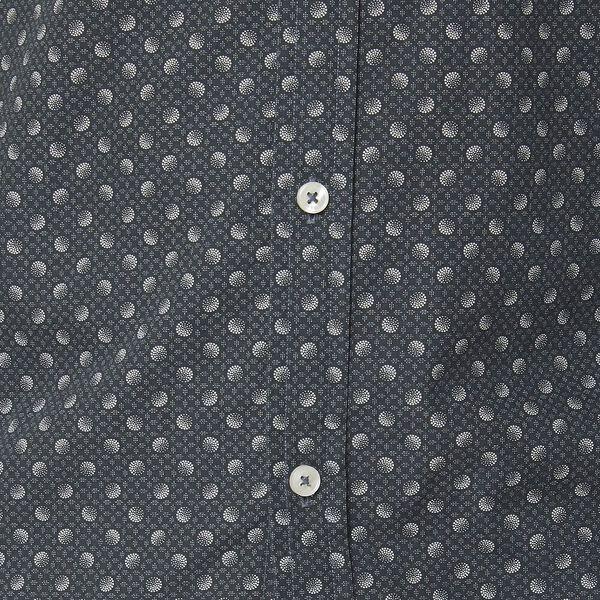 Multi Dot Print Ls Mod Shirt Charcoal, CHARCOAL, hi-res