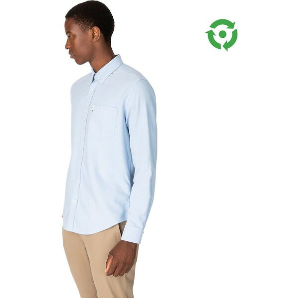 ORGANIC OXFORD SHIRT, BLUE SHADOW, hi-res