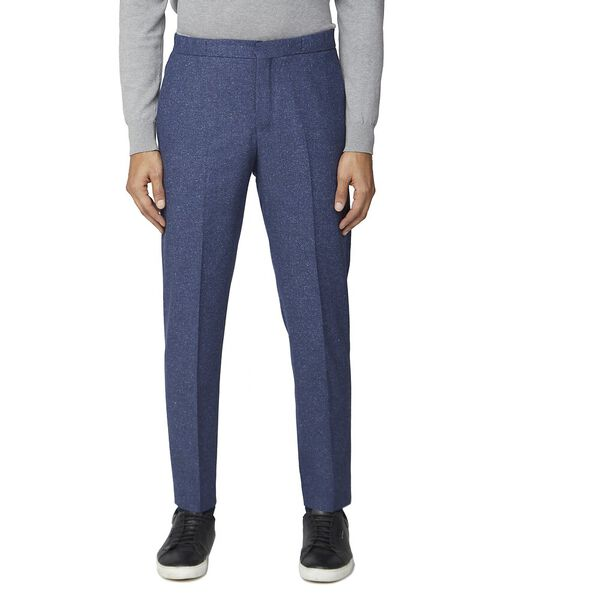 Mid Blue Speckle Trouser Blue
