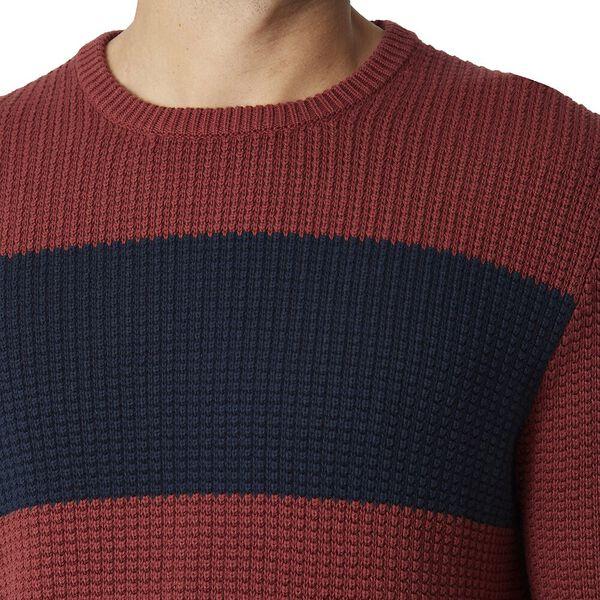 Herringbone Panel Knit Brown, BROWN, hi-res