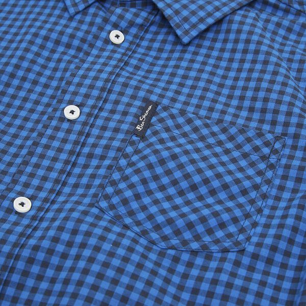 LS GINGHAM SHIRT ROYAL BLUE, ROYAL BLUE, hi-res