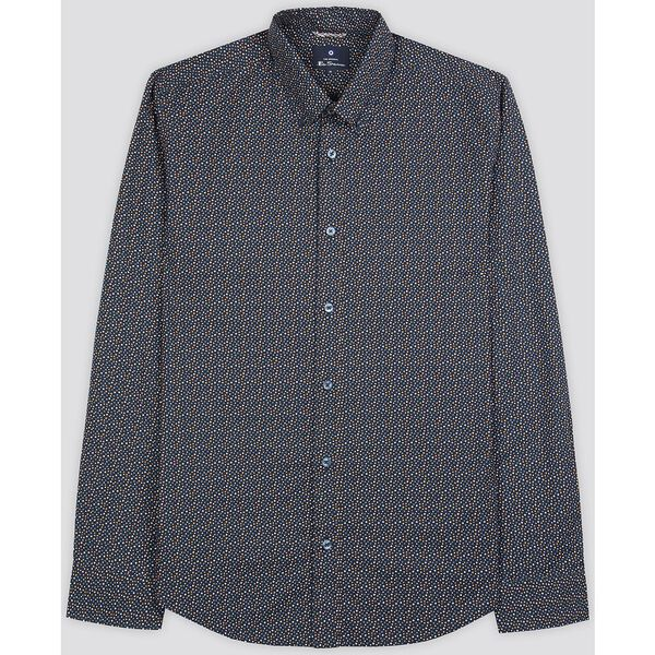 PRINTED SHIRT, DARK NAVY, hi-res