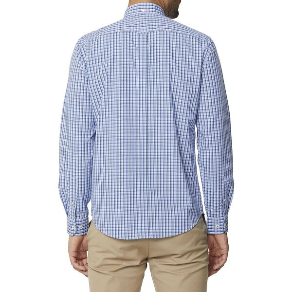 MICRO CHECK MOD SHIRT, BLUE, hi-res