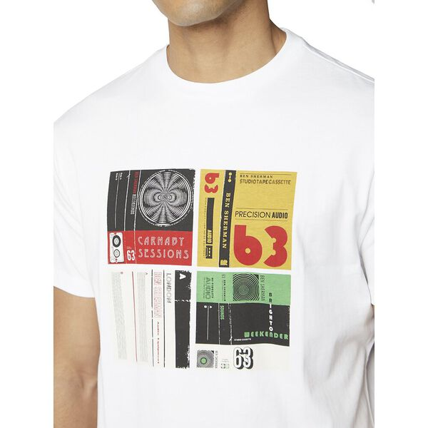 CASSETTE INLAY TEE, WHITE, hi-res