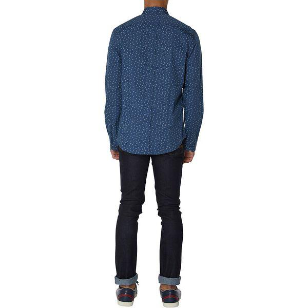 Scattered Geo Shirt, DARK BLUE, hi-res