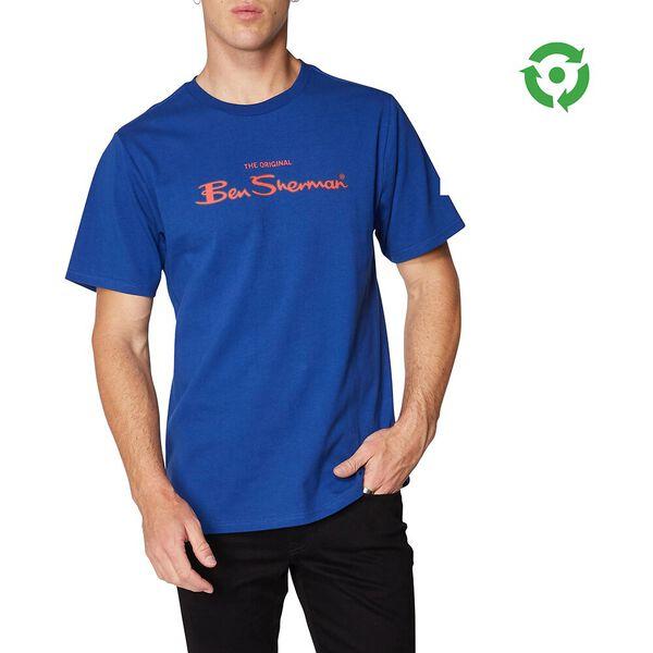 LOGO COLOUR BLOCK TEE, ROYAL BLUE, hi-res