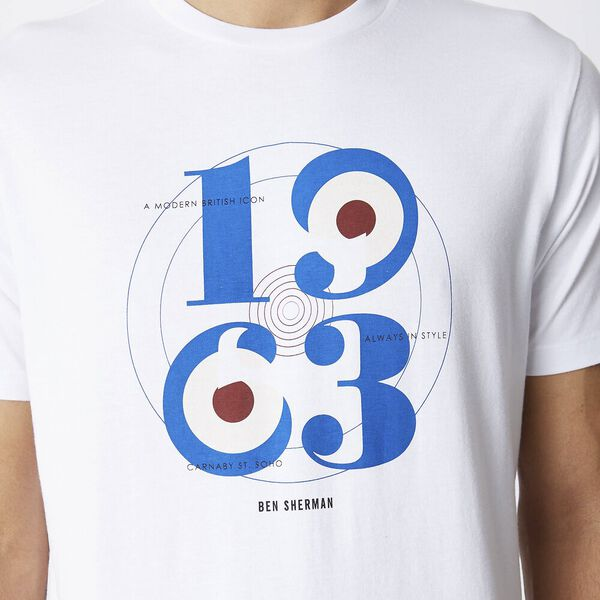 1963 Target Graphic Tee White, WHITE, hi-res