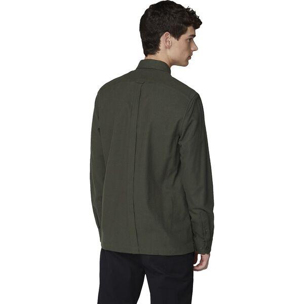 Ls Brushed Shirt Dark Green, DARK GREEN, hi-res