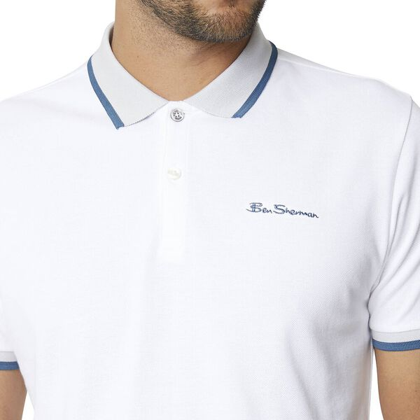 Block Tipping Polo Bright White, BRIGHT WHITE, hi-res