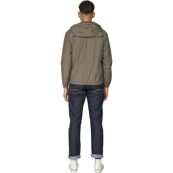 HOODED JACKET, KHAKI, hi-res
