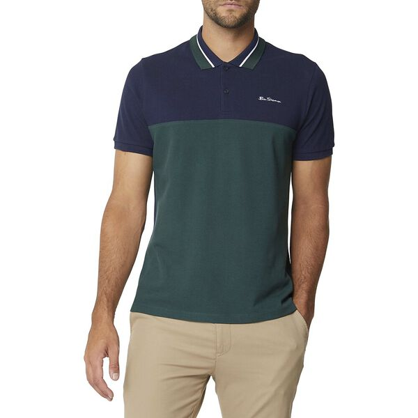 Colourblock Polo Dark Navy