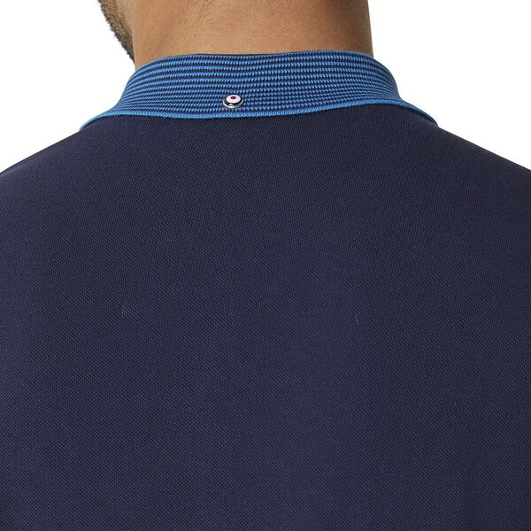 Stripe Collar Polo Dark Navy, DARK NAVY, hi-res