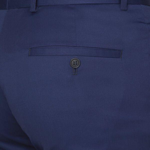 BLUE COTTON TROUSER, ROYAL BLUE, hi-res