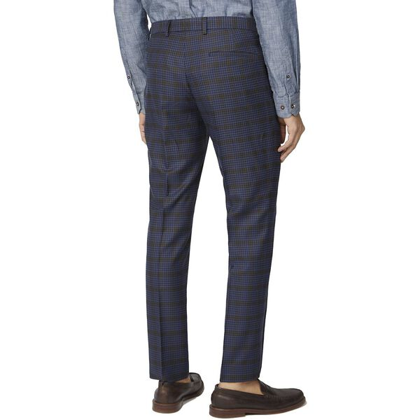 BLUE MUSTARD SHADOW CHECK TAIL TROUSER, BLUE, hi-res