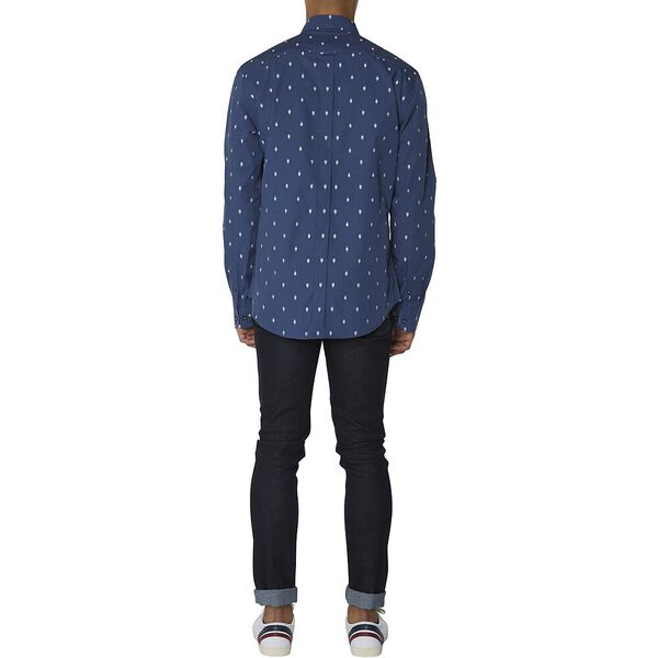 LS ICE LOLLY GEO SHIRT, DARK BLUE, hi-res