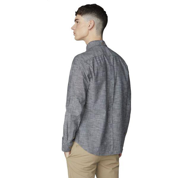 Chambray Shirt, BLACK, hi-res