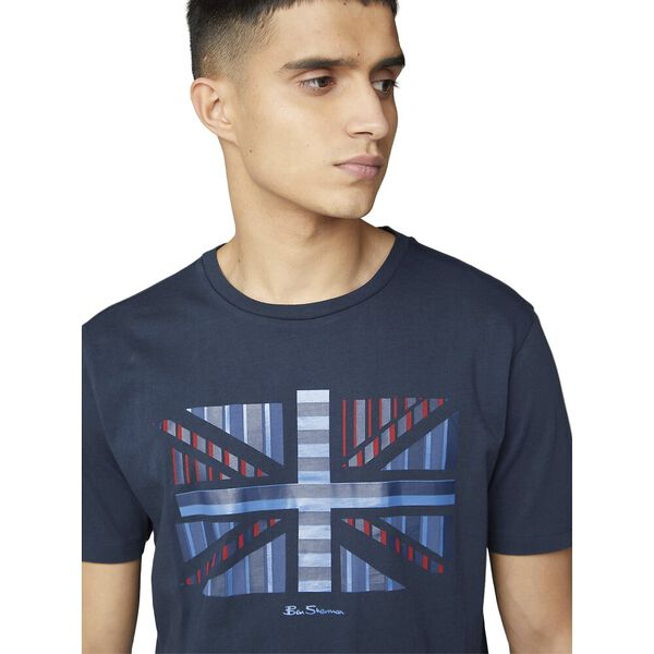 Union Jack Influence Chevron Block Tee, MIDNIGHT, hi-res
