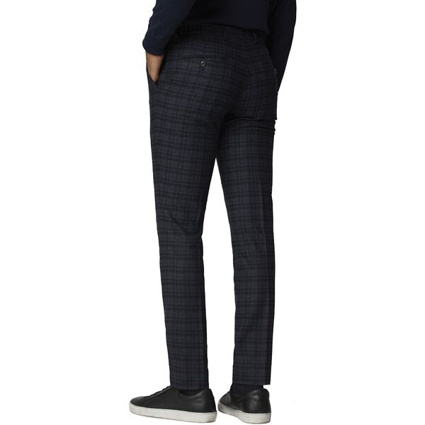 NAVY CHARCOAL CHECK TROUSER NAVY, NAVY, hi-res