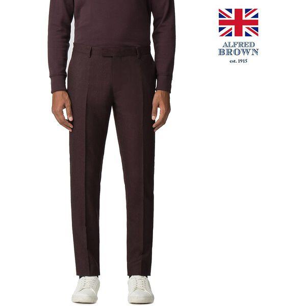British Vintage Mulberry Flannel Trouser