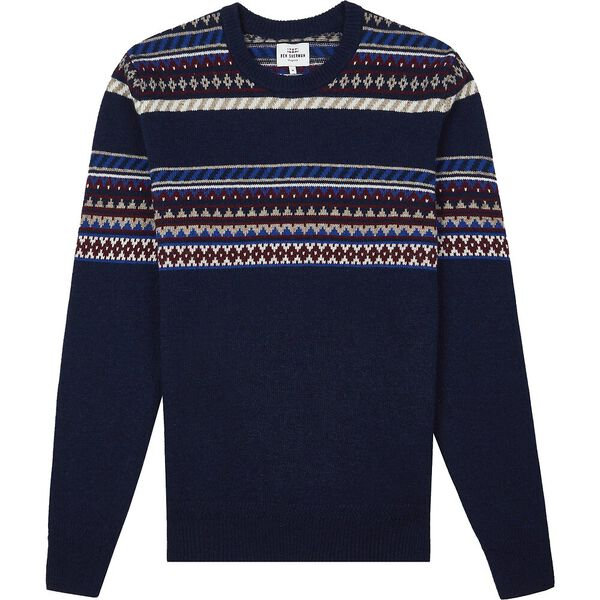 Placed Geo Fairisle Dark Navy, DARK NAVY, hi-res