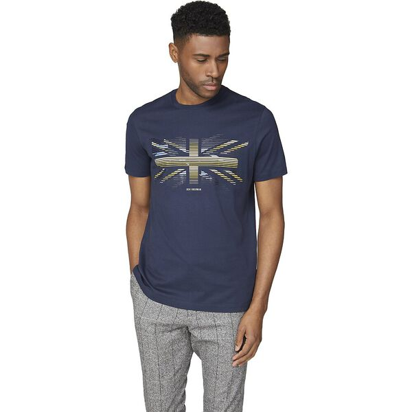 Union Stripe Tee Dark Navy