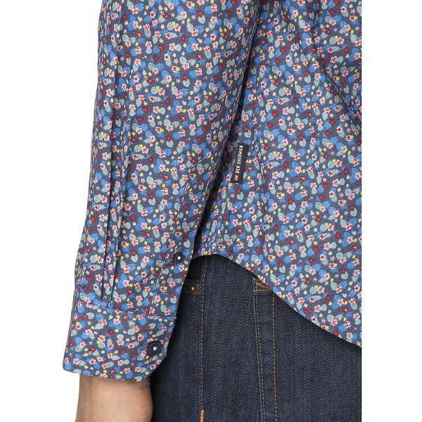 Micro Tropic Floral Shirt, DARK BLUE, hi-res