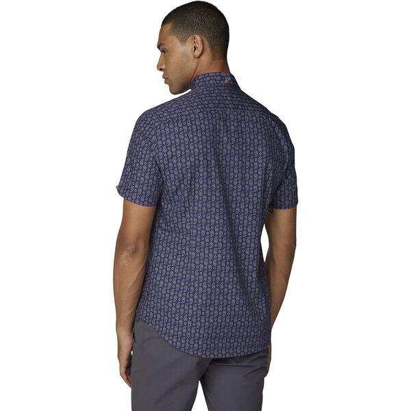 Ss Paisley Print Shirt Dark Blue, DARK BLUE, hi-res