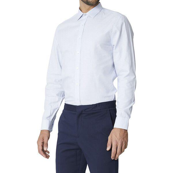 Ls Formal Camden Linea Dobby Shirt Sky, SKY, hi-res