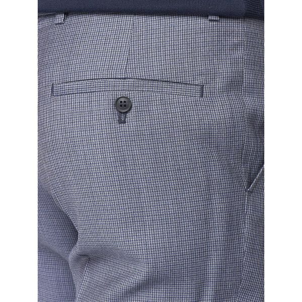 BRITISH MICRO GINGHAM TROUSER, ROYAL BLUE, hi-res
