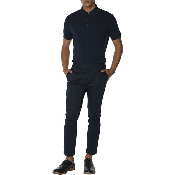 NAVY COTTON TROUSER, NAVY, hi-res