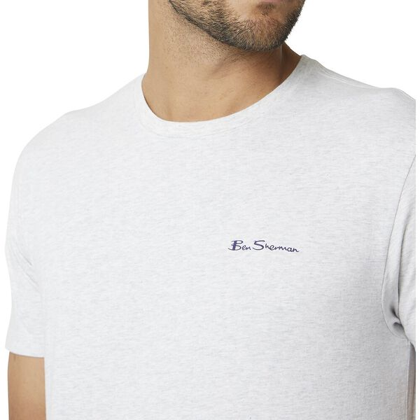 Chest Logo Tee Moon Marl, MOON MARL, hi-res