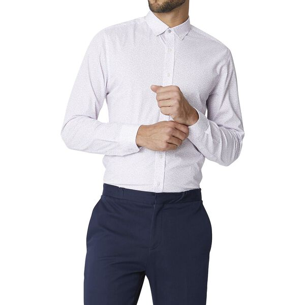 LS FORMAL CAMDEN RETRO SHAPES SHIRT PALE