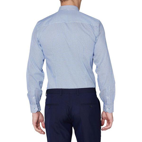 OPTICAL GEO CAMDEN SHIRT, ROYAL BLUE, hi-res