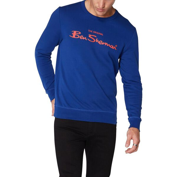 Logo Colour Block Sweat Royal Blue