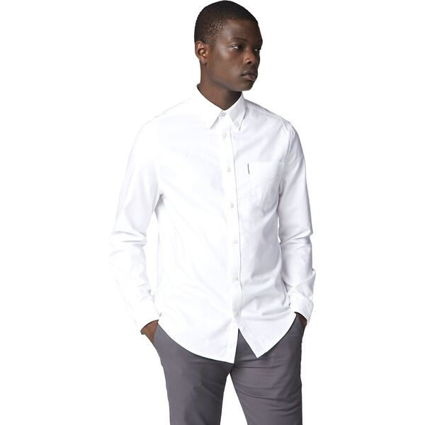 Oxford Shirt, WHITE, hi-res
