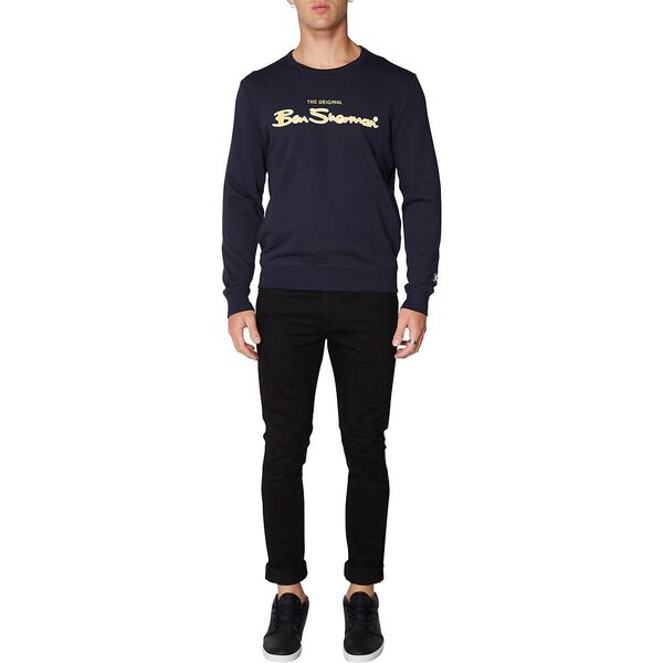 LOGO COLOUR BLOCK SWEAT, MIDNIGHT NAVY, hi-res