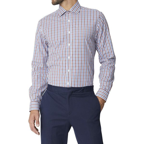 Ls Formal Kings House Check Shirt Burgun