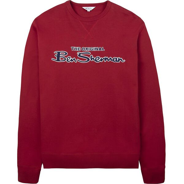 SIGNATURE LOGO SWEAT, RED, hi-res